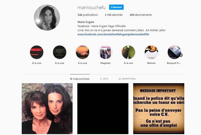 Marie Fugain sur instagram